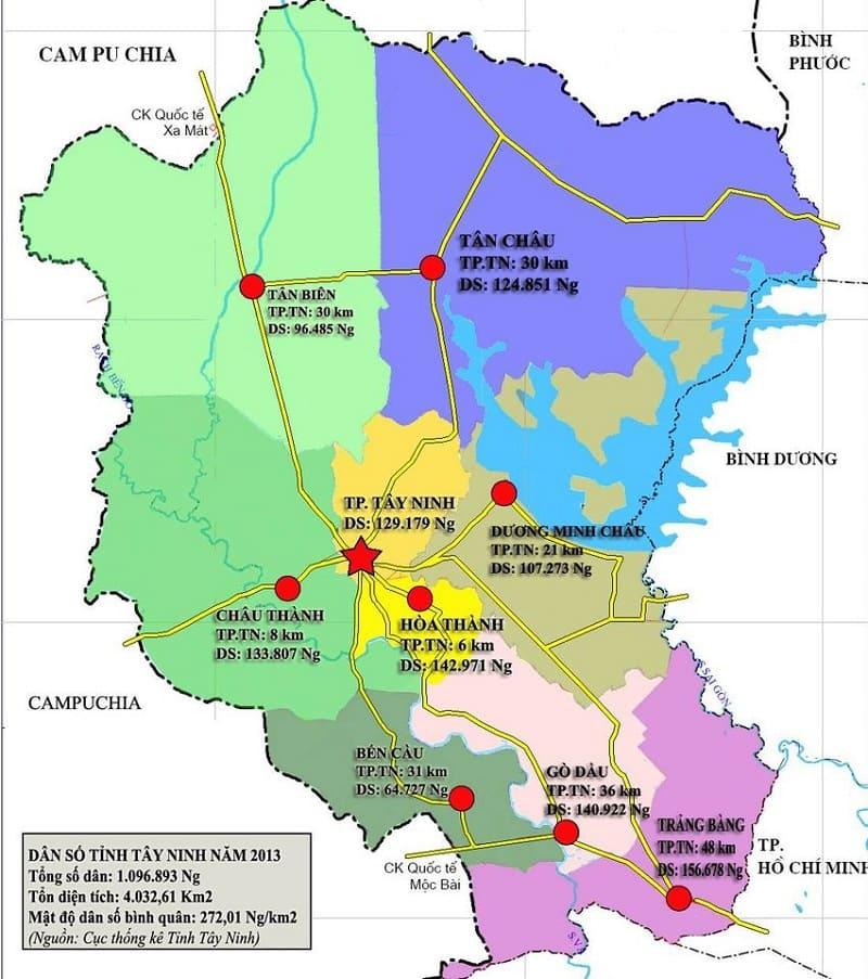 Bản đồ du lịch Tây NInh