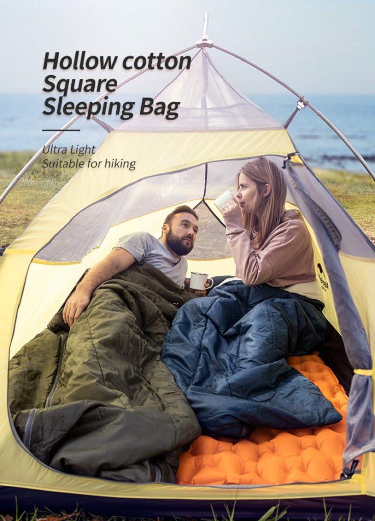 Túi ngủ du lịch chất liệu bông siêu mềm mại với khả năng chống thấm nước tốt