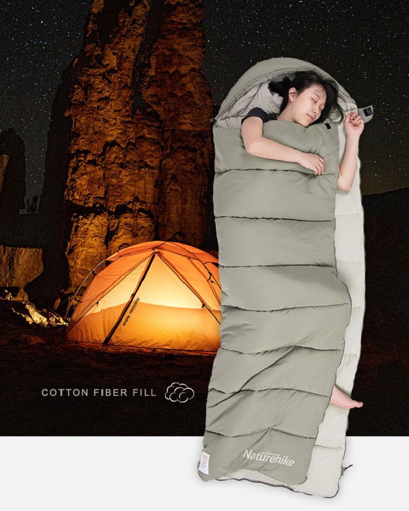 Túi ngủ Naturehike M180 NH20MSD02 thiết kế ưu việt mang đến sự thoải mái cho người dùng.